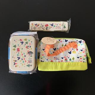 ミッキーマウス(ミッキーマウス)のディズニー ミッキー 箸 弁当箱 ガマ口 保冷 バッグ ランチバッグ 袋 セット(弁当用品)