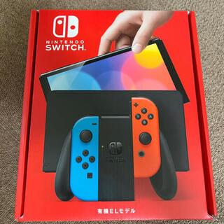 ニンテンドースイッチ(Nintendo Switch)の新品未開封 任天堂 Switch有機EL ネオン(家庭用ゲーム機本体)