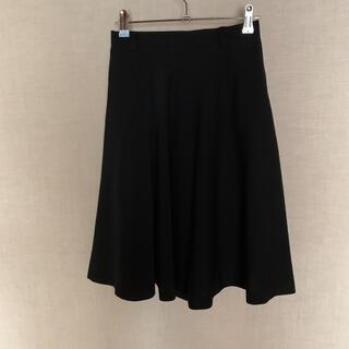バツ(BA-TSU)のフレアスカート 黒(ひざ丈スカート)