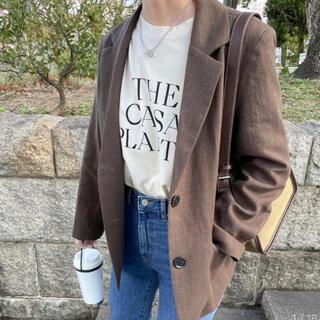 ディーホリック(dholic)の【NUGU】sunny day linen jacket(テーラードジャケット)