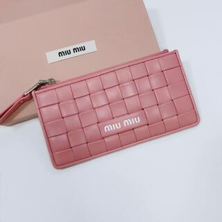 miumiu - 《新品》miumiu フラグメントケース カードケース ピンク