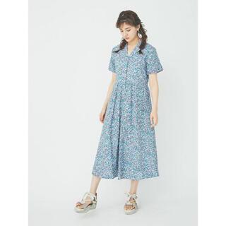 merry jenny - flowerシャツマキシワンピース