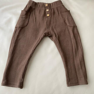 ザラキッズ(ZARA KIDS)のZARA KIDS ボタン付きリブ編みパンツ 98cm(パンツ/スパッツ)