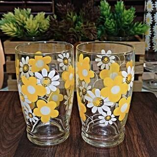 東洋佐々木ガラス - ♥昭和レトロ♥⭐希少レア⭐東洋ガラス レトロ フラワーグラス  2個セット