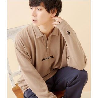 カンゴール(KANGOL)のKANGOL/カンゴール 別注ロゴ刺繍 ビッグシルエットL/Sポロシャツ(ポロシャツ)