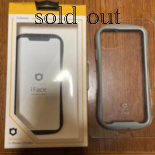 iPhone - iPhone11プロマックス iface ケース グレー クリア アイフェイス