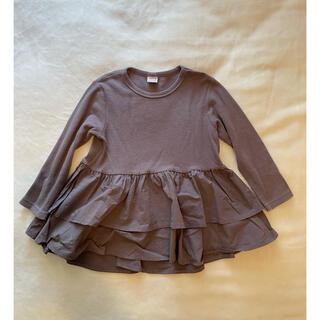 petit main - プティマイン petitmain フリルカットソー Tシャツ 130
