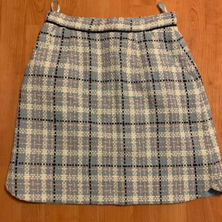 リランドチュール(Rirandture)の美品リランドチュールツイードスカート台形アプワイザーリッシェジルスチュアート(ミニスカート)