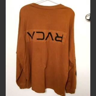 ルーカ(RVCA)の美品 ルーカ ロンT  スウェット L 茶色(Tシャツ/カットソー(七分/長袖))