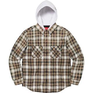 Supreme - Supreme Hooded Flannel Zip Up Shirt m