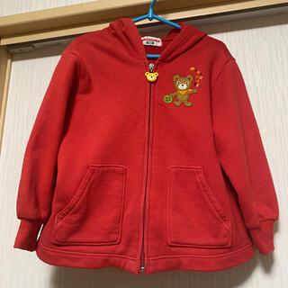 ミキハウス(mikihouse)のミキハウス クマちゃん刺繍とロゴが可愛いパーカー サイズ100(ジャケット/上着)
