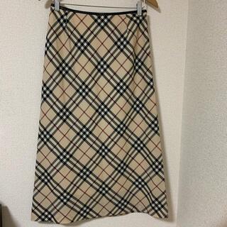 バーバリー(BURBERRY)のBurberry London チェック スカート(ロングスカート)