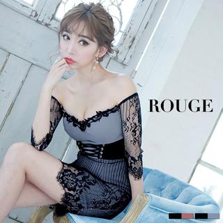 JEWELS - ROUGE♡レースアップドレス