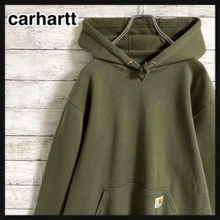 carhartt - 【希少カラー】カーハート☆ワンポイントロゴ パーカー メキシコ製 即完売品人気L