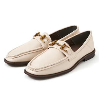グレイル(GRL)のグレイル スクエアトゥ ビットローファー ホワイト アイボリー 23cm(ローファー/革靴)