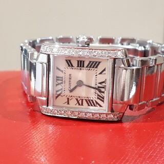 Cartier - カルティエ タンクフランセーズ SM アフターダイヤ 時計 天然ダイヤモンド
