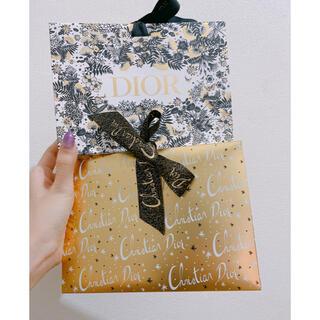 クリスチャンディオール(Christian Dior)の美品ディオールコスメギフトボックスホリデークリスマス口紅マキシマイザー(ショップ袋)