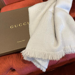 Gucci - 再お値下げ!グッチ GUCCI ストール 人気のGG柄!マフラーにもしてもOK♡