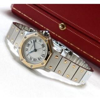Cartier - ☆美品☆ カルティエ サントス オクタゴン K18 コンビ レディース /腕時計