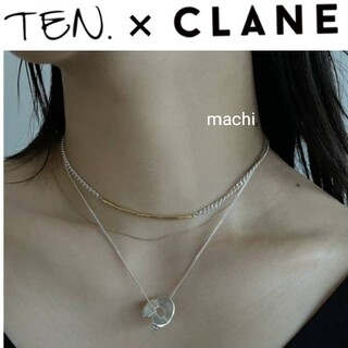 CLANE×TEN.TWIG CHAIN NECKLACE ミックス 伊勢丹限定