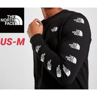ザノースフェイス(THE NORTH FACE)のノースフェイス リピートロゴ ロングスリーブTシャツ 新品未使用 海外限定(Tシャツ/カットソー(七分/長袖))
