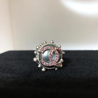 CHANEL - CHANEL ココマーク 大きめ リング 指輪 ピンクストーン