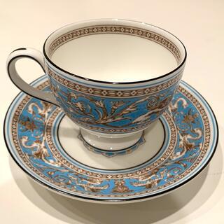 WEDGWOOD - ウェッジウッド フロレンティーン ターコイズ ティーカップ&皿