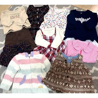 ジェラートピケ(gelato pique)のベビー服まとめ売り 80〜90サイズ  女の子 秋服冬服(その他)