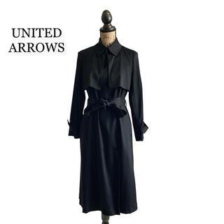ユナイテッドアローズ(UNITED ARROWS)のUNITED ARROWS ユナイテッドアローズ コート ブラック レディース(ロングコート)