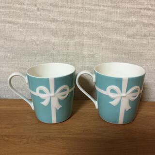Tiffany & Co. - ティファニー ブルーボウ マグカップ 2個