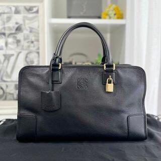 LOEWE - 美品★ ロエベ アマソナ36 レザー 黒 ハンドバッグ