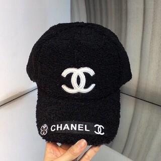 ★シャネル ★ロゴ バケットハット二番目黒 帽子