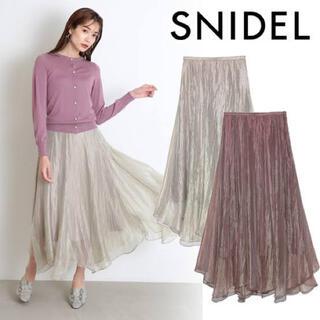 snidel - 美品 SNIDEL ラクーンニット、シアースカートセット
