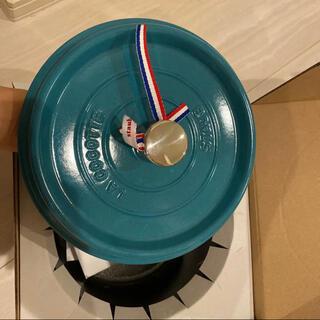 ストウブ(STAUB)のstaubストウブ ココット鍋 ホーロー鍋 限定色 22CM ミントブルー(鍋/フライパン)