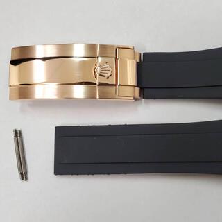 汎用交換用ベルト 対応ロレックス 時計ラバーベルト Dバックル 20mm