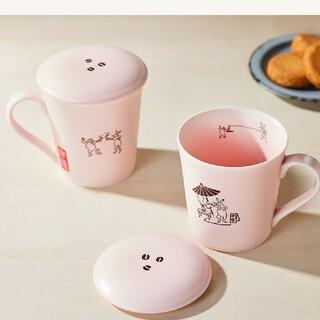 タリーズコーヒー(TULLY'S COFFEE)のタリーズ鳥獣戯画 蓋つきマグカップ(グラス/カップ)