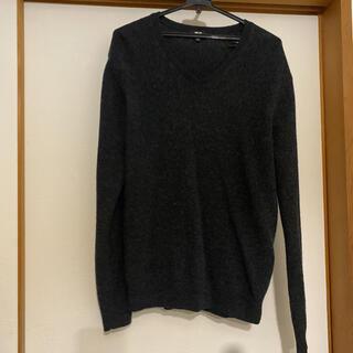 UNIQLO - ユニクロ プレミアムラムVネックセーター 毛100%     Lサイズ