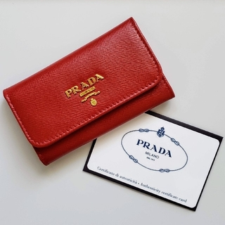 PRADA - プラダ PRADA キーケース FUOCO SAFFIANO METAL
