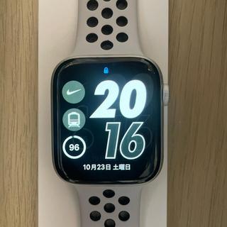 アップルウォッチ(Apple Watch)のApple watch nike+ series4 44mm GPSモデル美品(腕時計(デジタル))