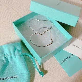 Tiffany & Co. - Tiffany& Co.  オープン ハート フープ ピアス Medium