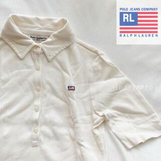 POLO RALPH LAUREN - POLO ジーンズ ラルフローレン 五分丈 Tシャツ ポロシャツ クリーム S