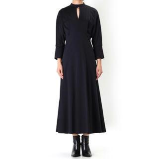 mame - Mame Cotton Jersey Dress - navy サイズ2