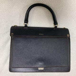Furla - 美品 フルラ FURLA ショルダーバッグ ブラック 2way ハンドバッグ