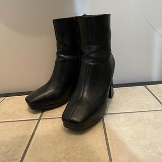ジーナシス(JEANASIS)のJEANASIS ショートブーツ BLACK Mサイズ(ブーツ)