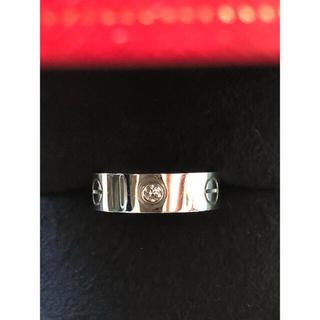 Cartier - カルティエラブリング ホワイトゴールド ハーフダイヤモンド 9号