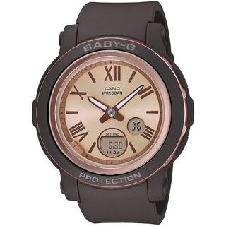 CASIO - カシオ BABY-G ワイドフェイス ローマンインデックス 腕時計 ブラウン