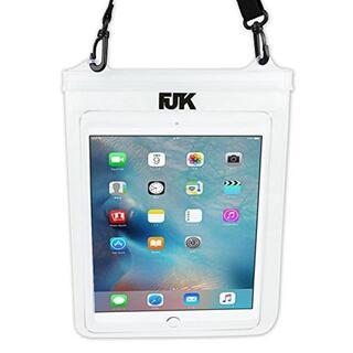 FJTK タブレット用 防水ケース ストラップ付 10インチ対応 風呂 プール (その他)