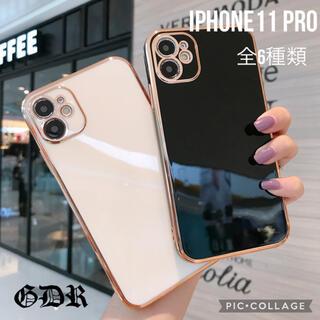 iPhone11 pro シリコンケース オシャレ シンプル 韓国 かわいい(iPhoneケース)