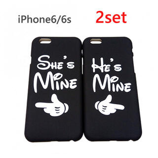 SALE★2つセット!iPhone6/6s  薄型 ハードケース ミッキーの手(iPhoneケース)