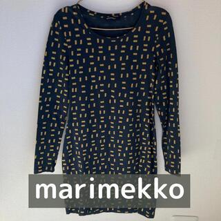 マリメッコ(marimekko)のマリメッコ ワンピース ネイビー×イエロー(ひざ丈ワンピース)